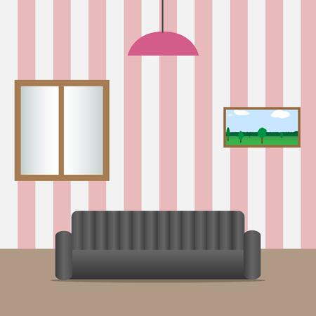 living room design: Living room interior modern design. Vector illustration