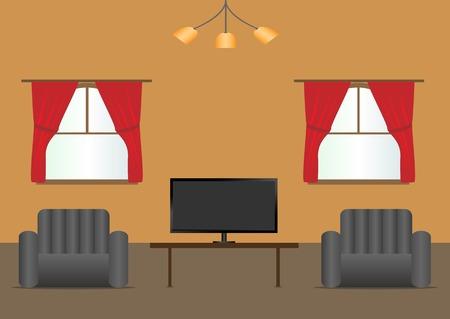 modern living room: Living room interior modern design. Vector illustration