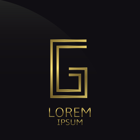 G Letter Logo Golden Logo Symbol For Business Company Luxury