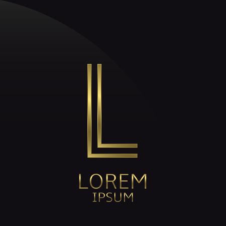 expensive: L Letter logo. Golden logo symbol for business company, luxury elegant expensive emblem