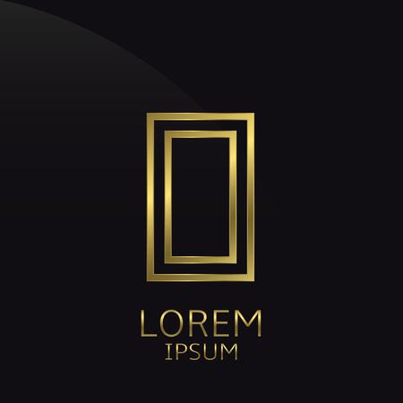 business symbol: O Letter logo. Golden logo symbol for business company, luxury elegant expensive emblem Illustration