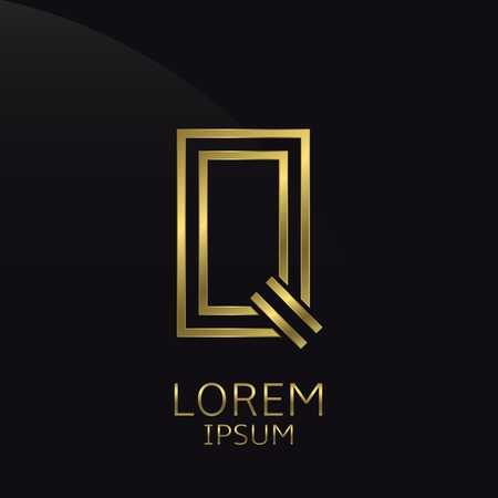 is expensive: Q Letter logo. Golden logo symbol for business company, luxury elegant expensive emblem