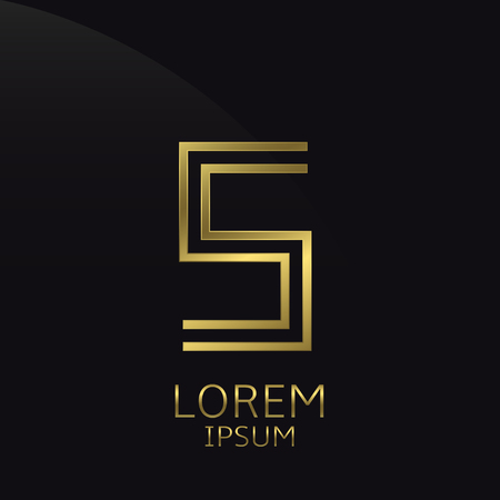 is expensive: S Letter logo. Golden logo symbol for business company, luxury elegant expensive emblem