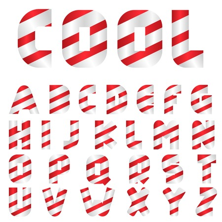 sweeties: Candy letters. Sweeties, Tasty letters Striped alphabet Illustration