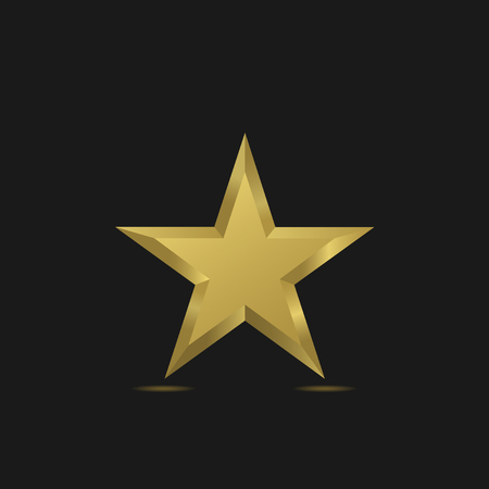 golden star: Golden Star symbol. Award sign. Luxury symbol