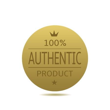 100% Authentic product label. Golden award badge