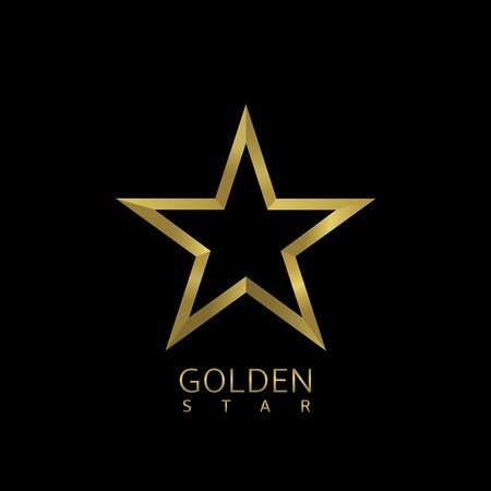 star award: Golden Star symbol. Award sign. Luxury symbol