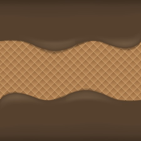 dark chocolate: Wafer chocolate background. Dark chocolate. Sweet desert Illustration