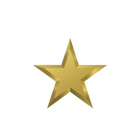 star award: Golden star symbol. Luxury emblem. Royal sign. Golden award medal
