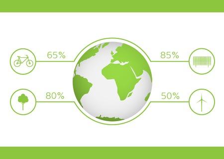 wind turbine: Energy saving technologies. Green earth. Green bicycle. Green tree. Solar energy system. Wind turbine