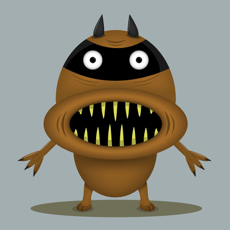 hilarious: Angry horror monster