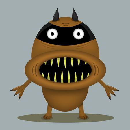enraged: Angry horror monster