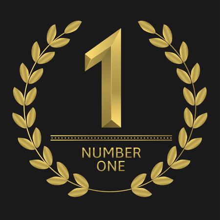 Die Nummer eins Symbol Vektorgrafik