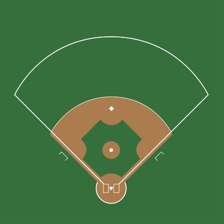Baseball field illustration Illustration