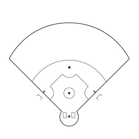 markup: Baseball field illustration Illustration