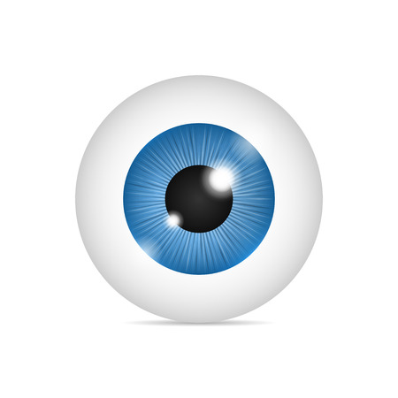 Globe oculaire humain réaliste