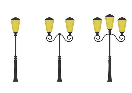 Retro street lights Illustration