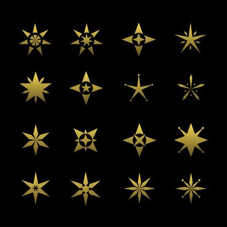 Golden star symbol Illustration