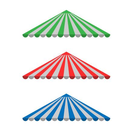 vitrine: Striped Awning canopy