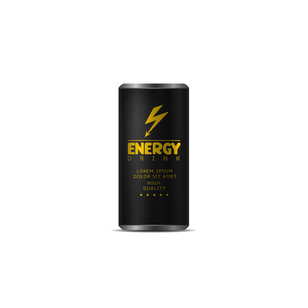 Energy drink Aluminum Can Illustration