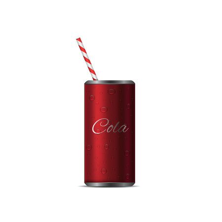 Realistic Cola Can Illustration