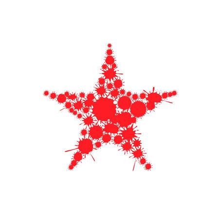 Red blood splash star Illustration