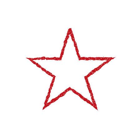 Red blood grunge star