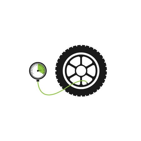 air gauge: Tire pressure gauge Illustration