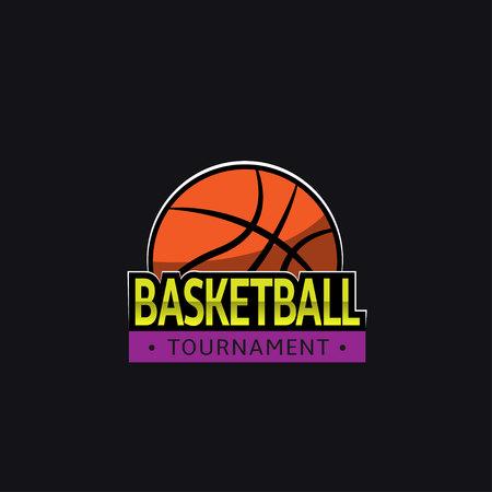 tourney: Basketball tournament logo template