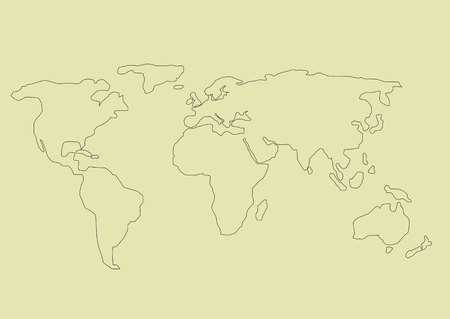 Simple World map Illustration