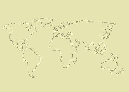 シンプルな世界地図