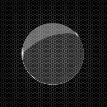 Glass round shape  イラスト・ベクター素材