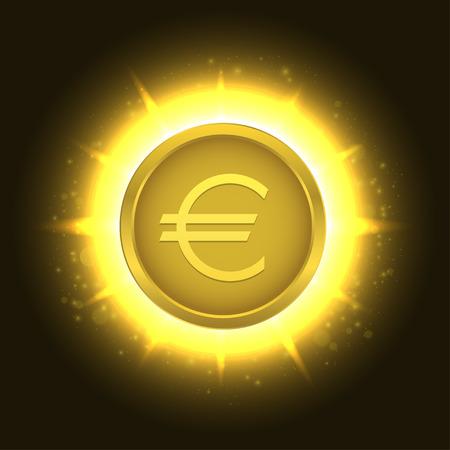 Golden euro coin3