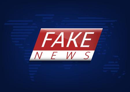 Fake news illustration Ilustração
