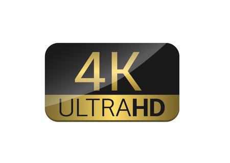 4K TV screen illustration. Illustration