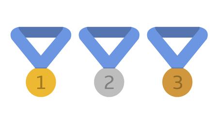 Award medals illustration
