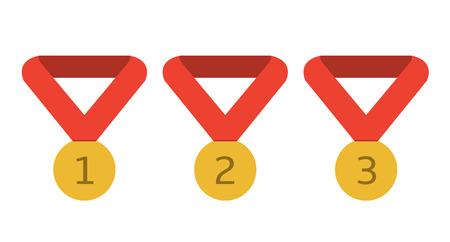 Golden award medals Illustration