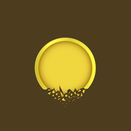 Icono de etiqueta dorada