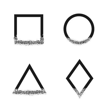Broken geometric shapes