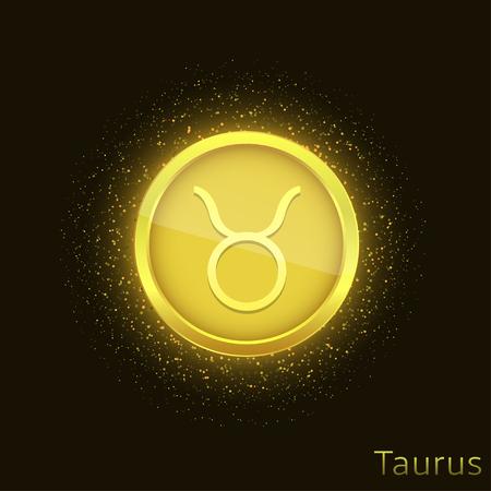 Golden Taurus sign  イラスト・ベクター素材