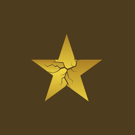 Golden broken star Standard-Bild - 102620624