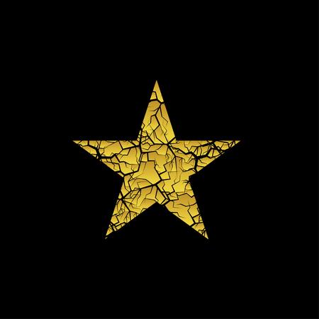 Golden broken star