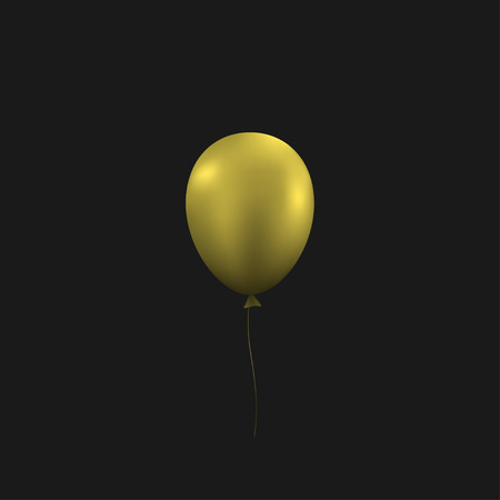 Golden balloon. Festive congratulation holiday background, Vector illustration 일러스트