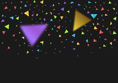 Colorful triangles confetti festive background. Vector illustration Stock Illustratie