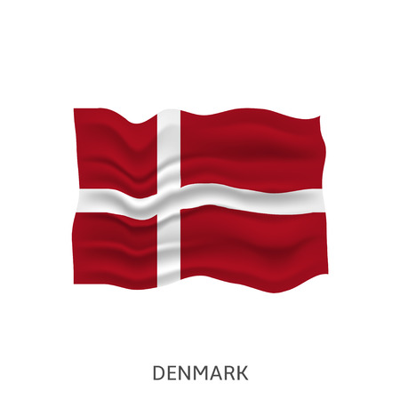 Flag of Denmark Vectores