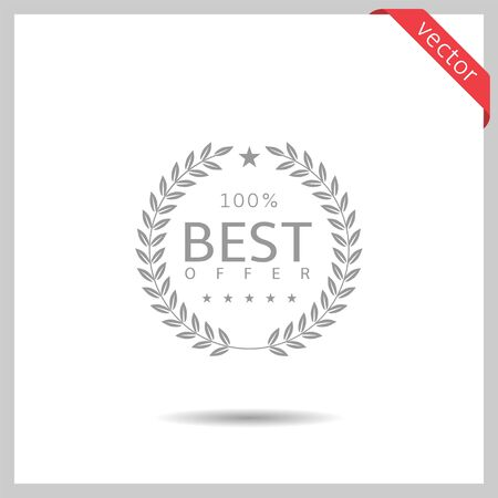 Best offer icon illustration Vektoros illusztráció