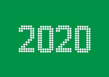 2020 White rounds numbers Reklamní fotografie - 131952092