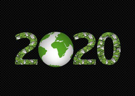 Illustration de la planète verte 2020 Vecteurs