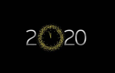 2020 Silver text illustration Ilustracja