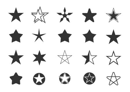 Star icon set Banque d'images - 132086628